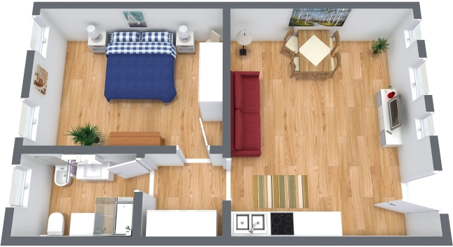 Planimetría Apartamento N.355