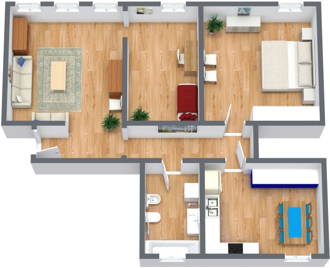 Planimetría Apartamento N.366
