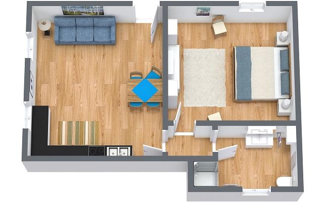 Planimetría Apartamento N.371