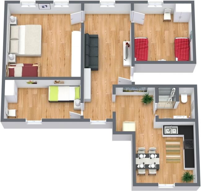 Planimetría Apartamento N.377