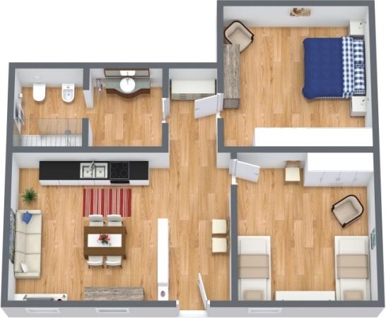 Planimetría Apartamento N.387