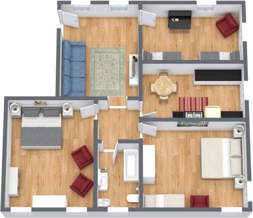 Planimetría Apartamento N.390