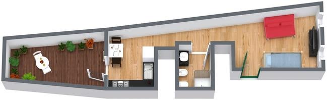 Planimetría Apartamento N.40