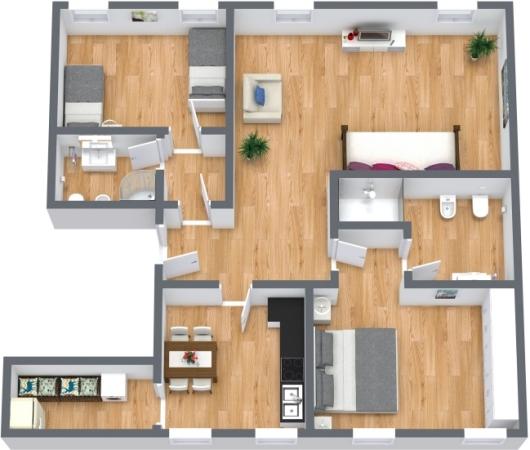 Planimetría Apartamento N.402