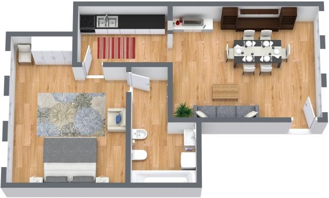 Planimetría Apartamento N.404