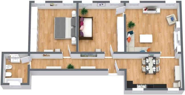 Planimetría Apartamento N.405