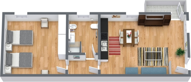 Planimetría Apartamento N.408