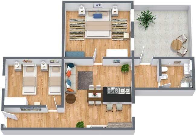 Planimetría Apartamento N.411