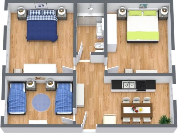 Planimetría Apartamento N.412
