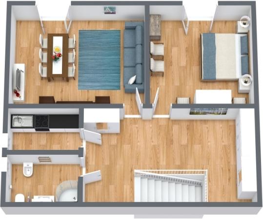 Planimetría Apartamento N.414