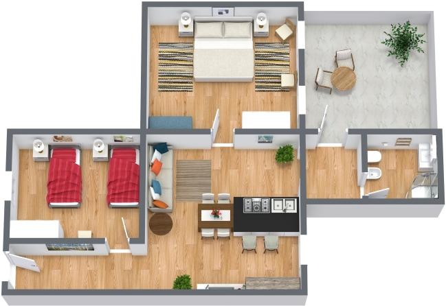Planimetría Apartamento N.427