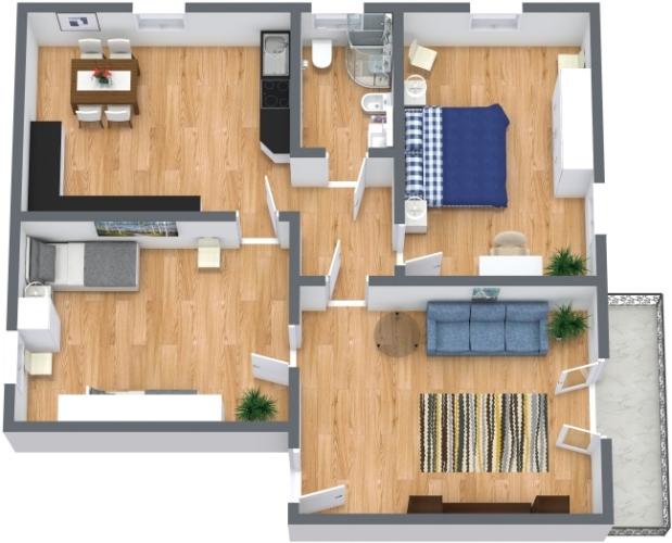 Planimetría Apartamento N.438