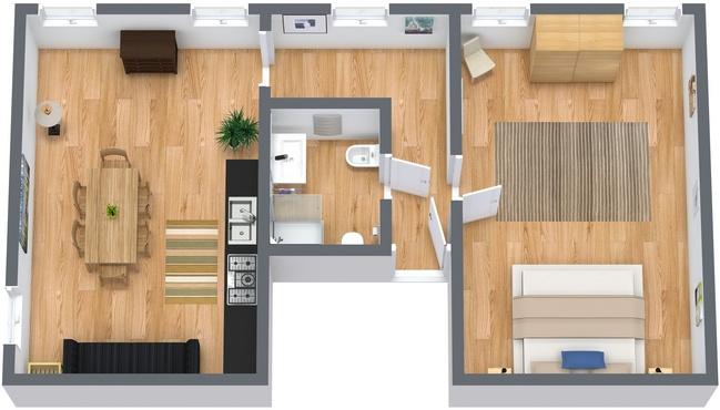 Planimetría Apartamento N.52