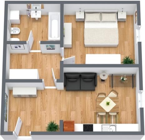 Planimetría Apartamento N.55