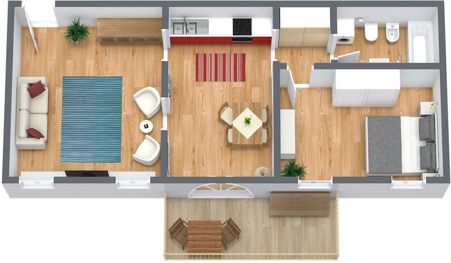 Planimetría Apartamento N.63
