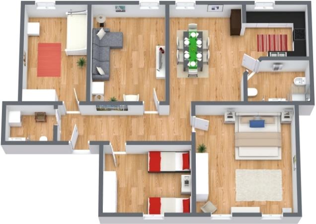 Planimetría Apartamento N.73