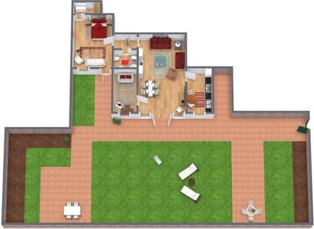 Planimetría Apartamento N.74