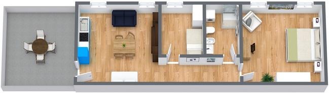 Planimetría Apartamento N.8